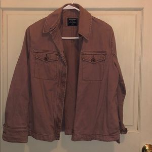 Abercrombie Dusty Rose Utility Jacket